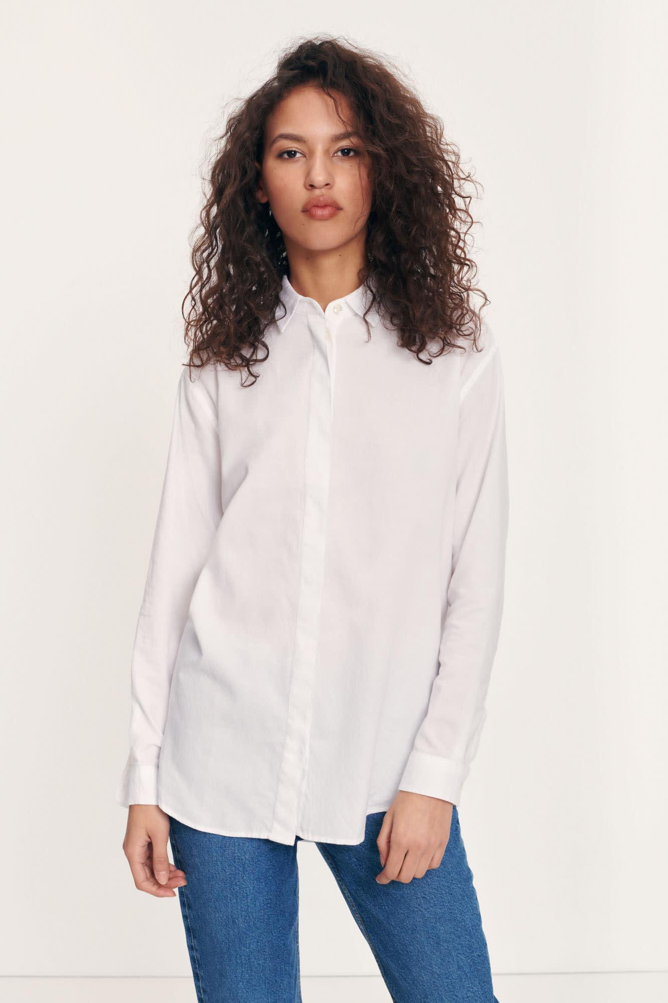Caico Basic Shirt Wit 2634-1