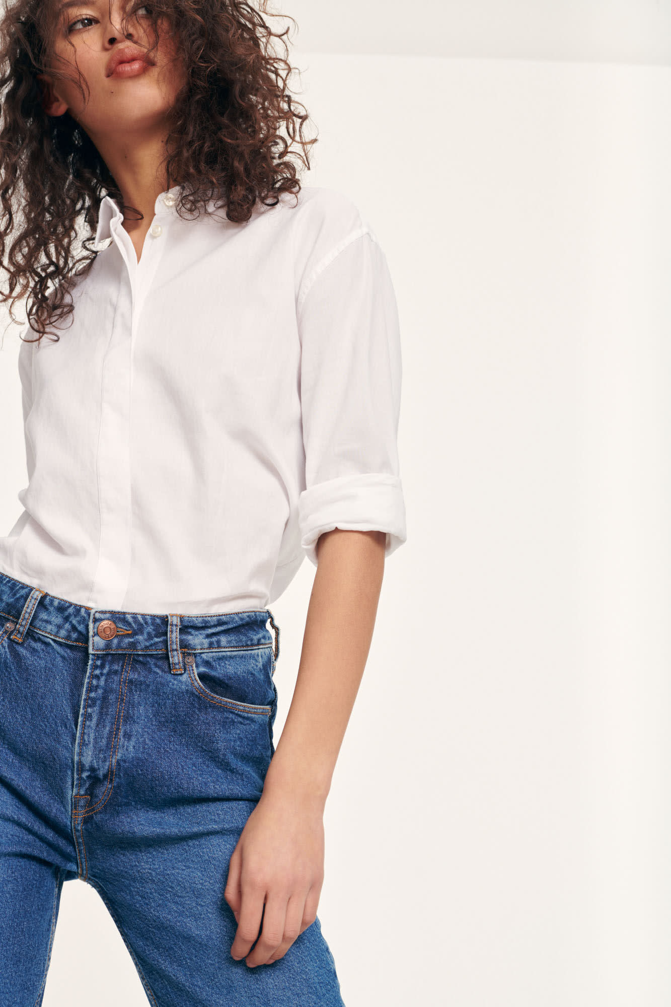 Caico Basic Shirt Wit 2634-3