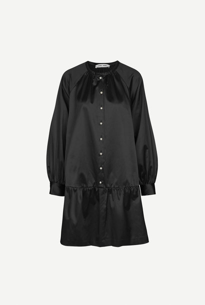 Star jurk zwart parelmoer knopen