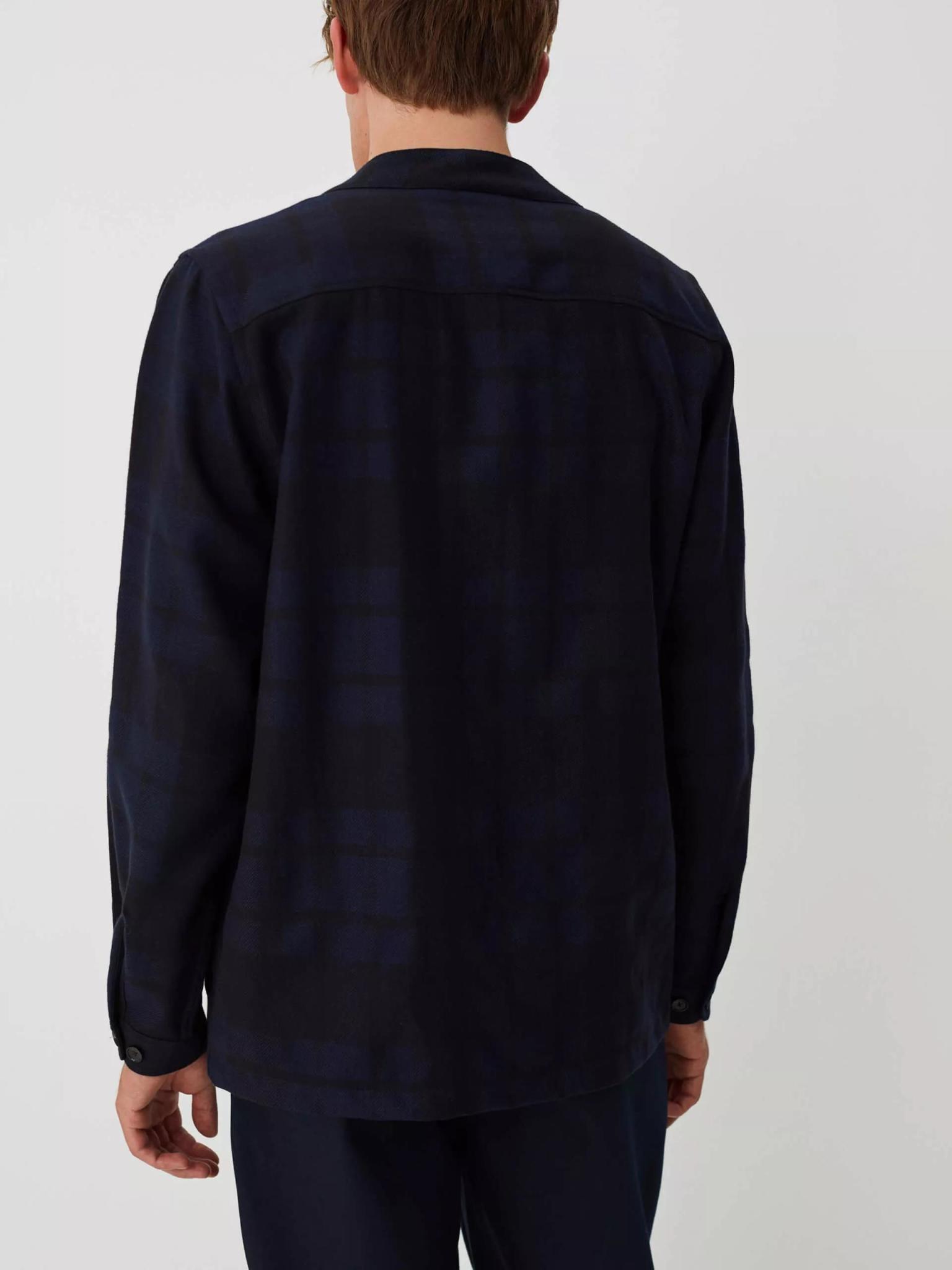 Uproar Dark Navy Check Kimono Shirt-3