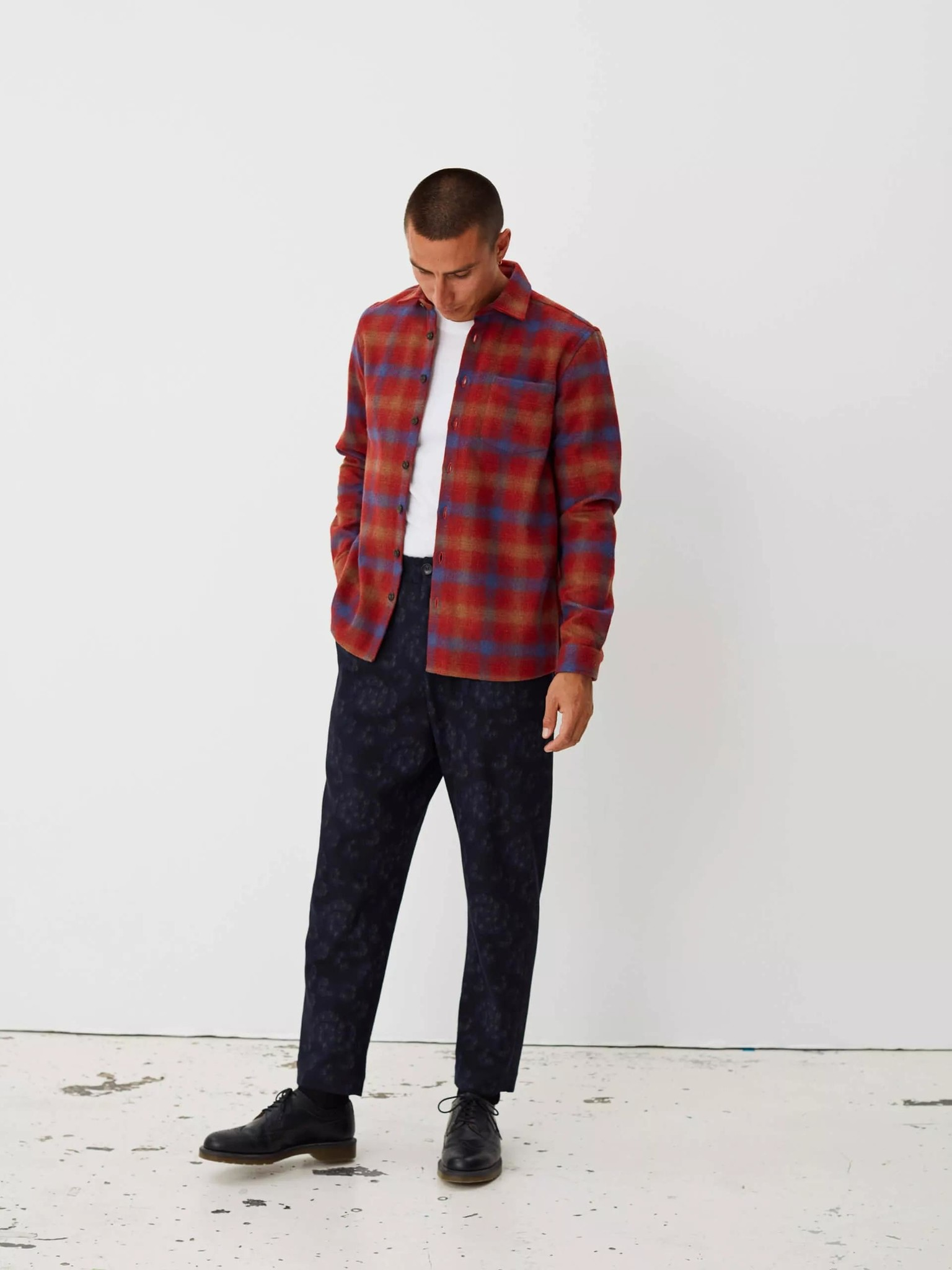 Miracle Chinese Red Check Shirt-3