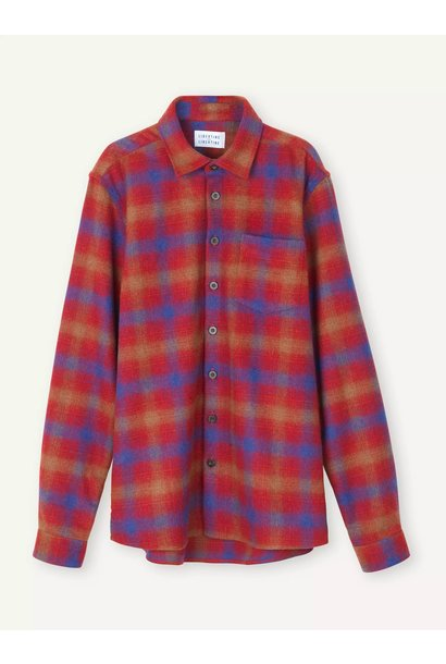 Miracle Chinese Red Check Shirt