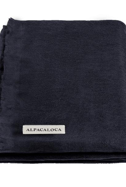 Alpaca Wollen Sjaal Marine Blauw