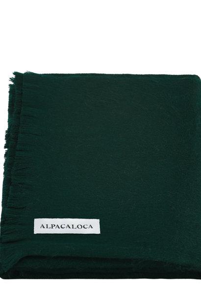Alpaca Wollen Sjaal Donker Groen