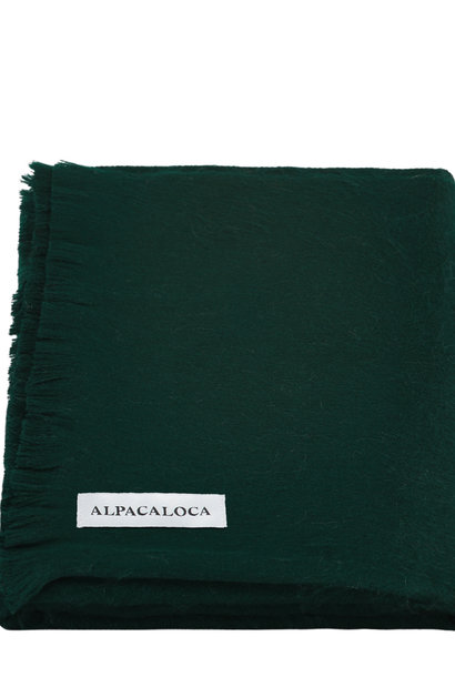 Alpaca Wool Scarf Forest Green