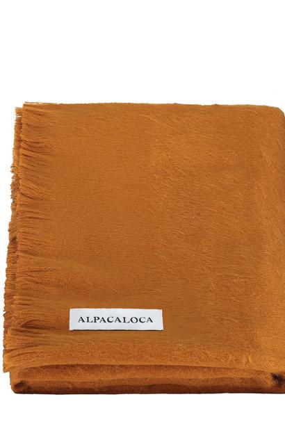 Alpaca Wollen Sjaal Roestbruin