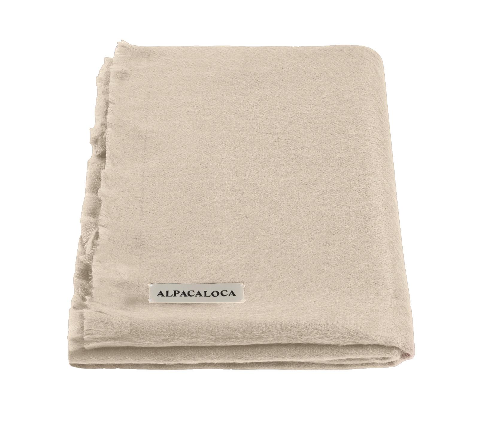 Alpaca Wool Scarf Beige-1