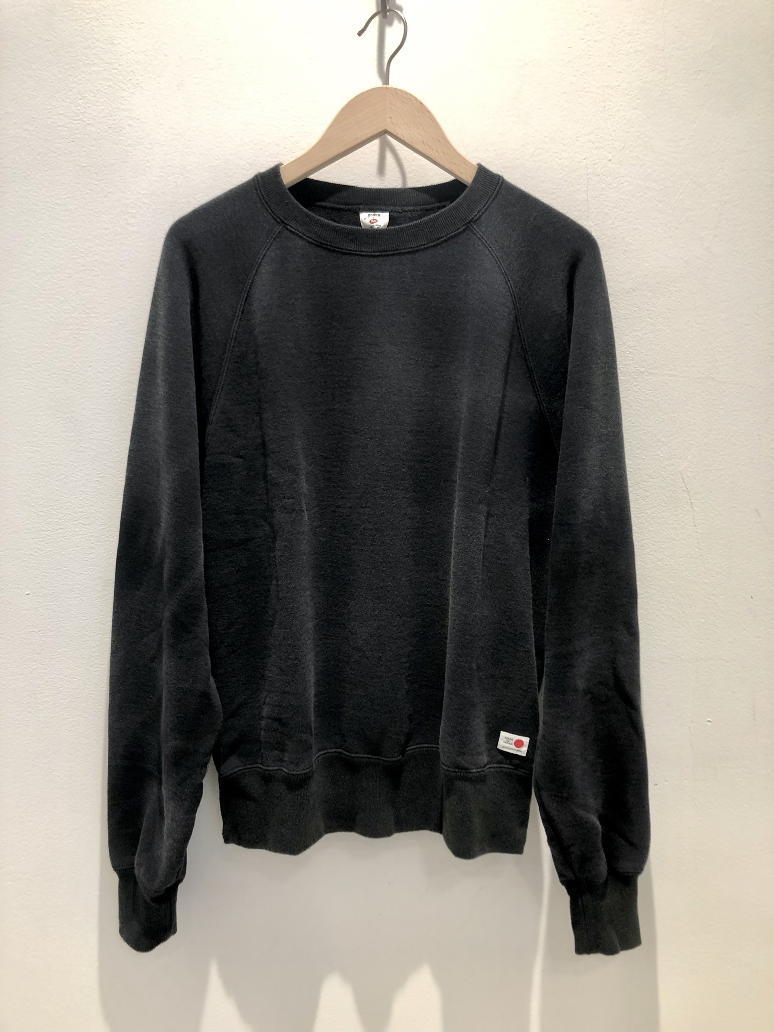 Raglan Made In Japan Crewneck Used Maruva Black-1