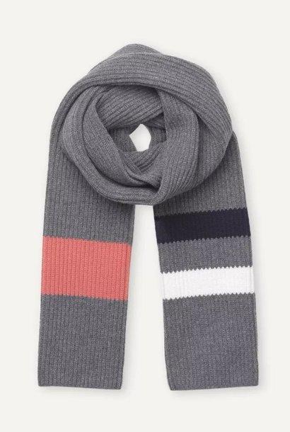 Aspen Grey melange Wool Scarf
