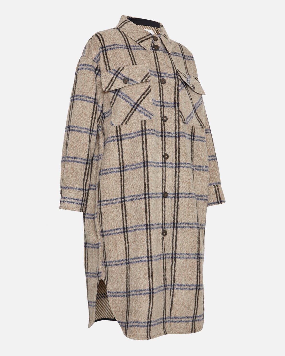 Kassidy Long Overshirt Jacket Sand 15937-2