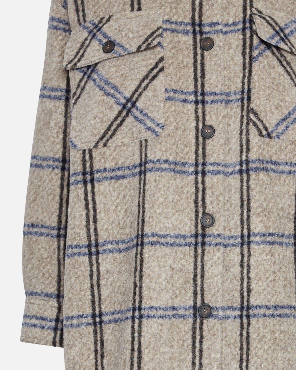 Kassidy Long Overshirt Jacket Sand 15937-3