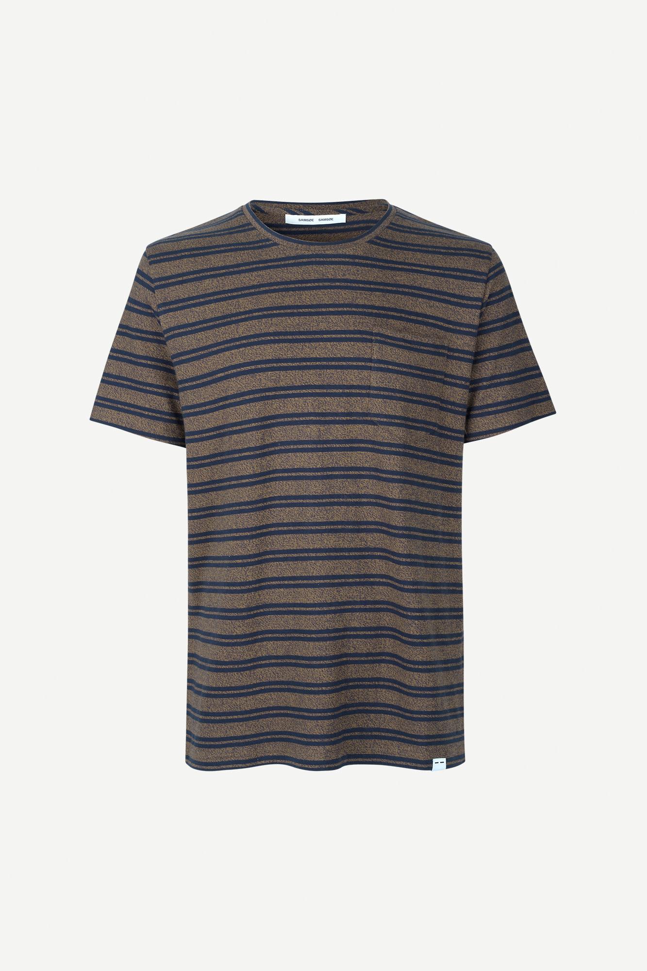 Carpo T-Shirt St Kangaroo Brown Blue Stripe 7888-4