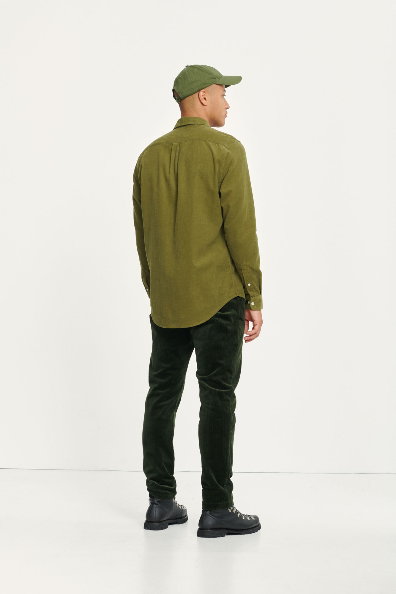 Liam BX Shirt Capulet Olive Green Corduroy-3