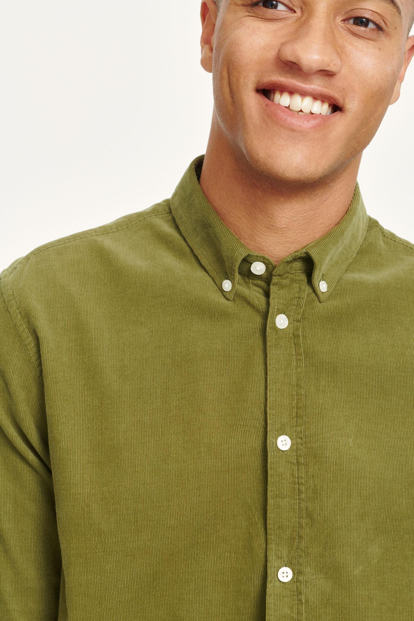 Liam BX Shirt Capulet Olive Green Corduroy-2