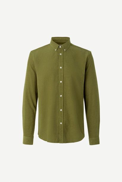 Liam BX Shirt Capulet Olijfgroen Ribfluweel