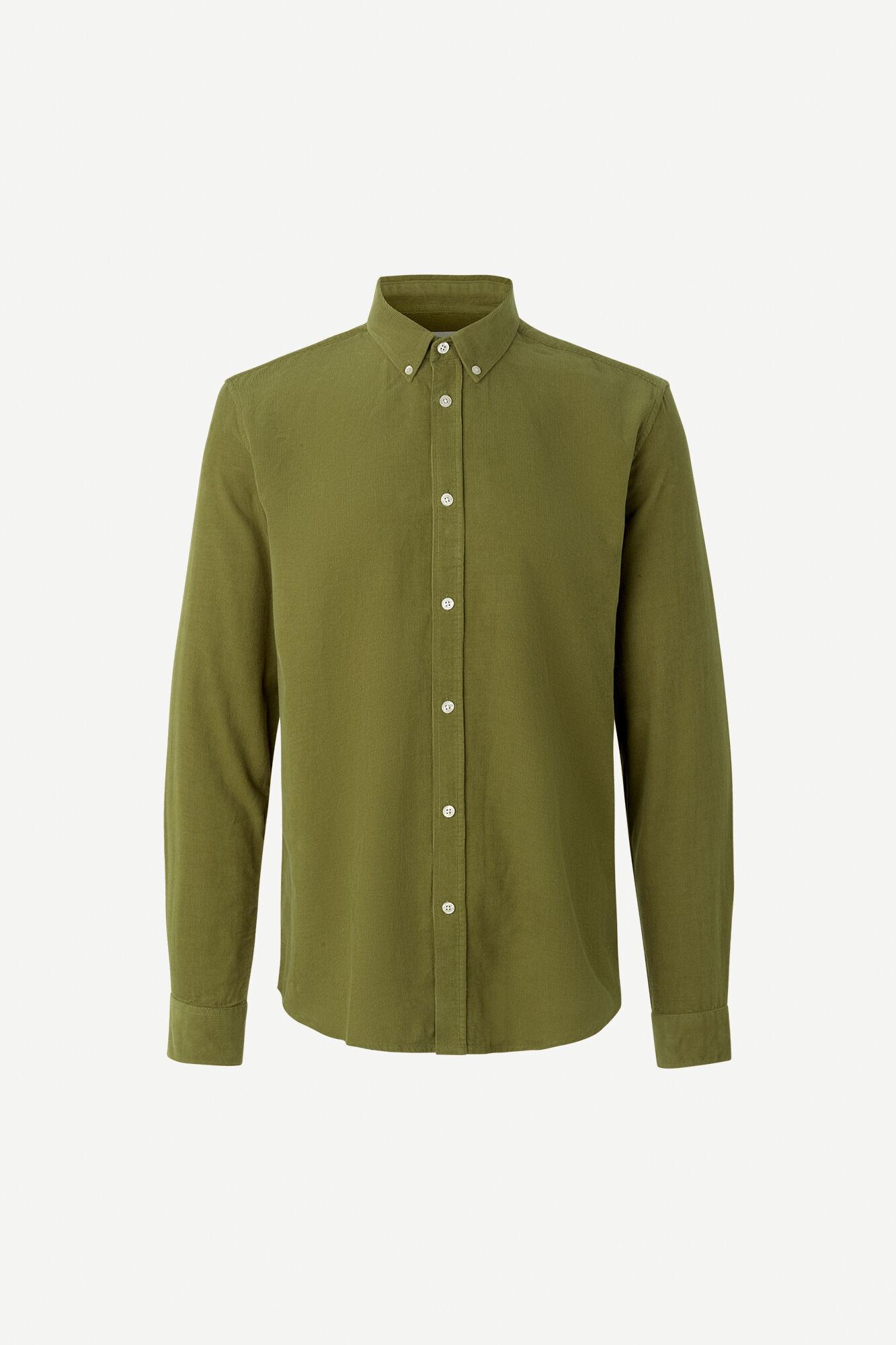 Liam BX Shirt Capulet Olive Green Corduroy-1