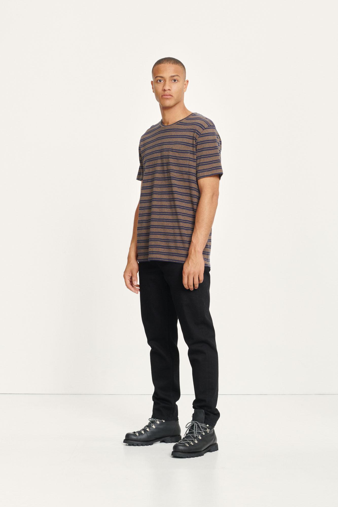 Carpo T-Shirt St Kangaroo Brown Blue Stripe 7888-3