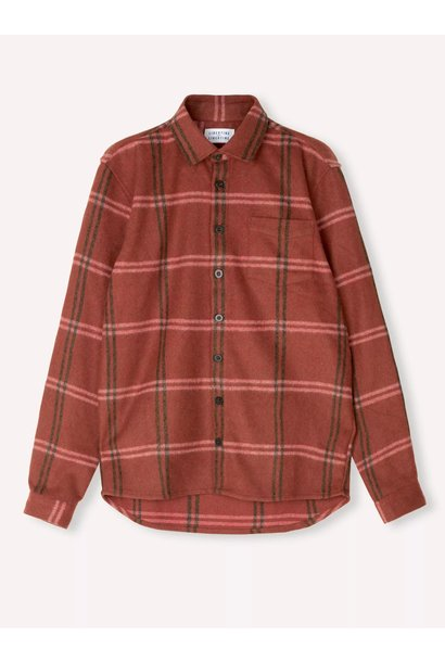 Miracle Red Check Wool Over Shirt