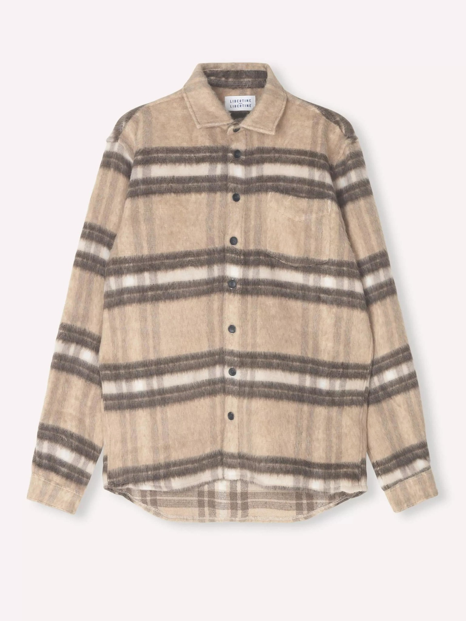 Miracle Light Brown Check Wool Over Shirt-1