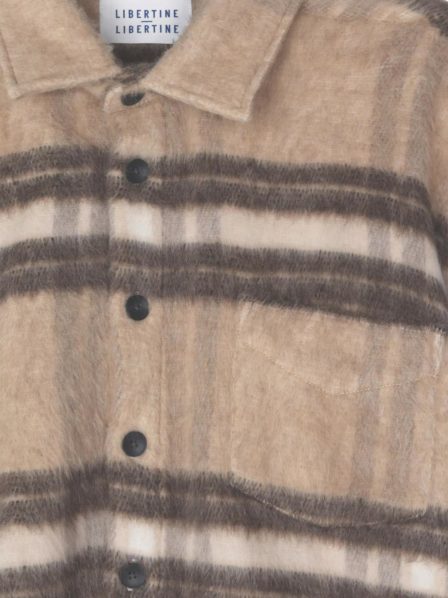 Miracle Light Brown Check Wool Over Shirt-3