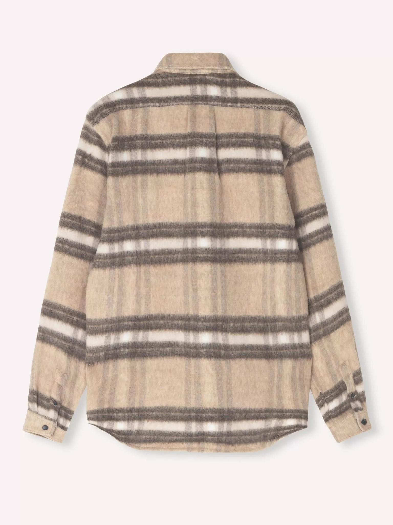 Miracle Light Brown Check Wool Over Shirt-2