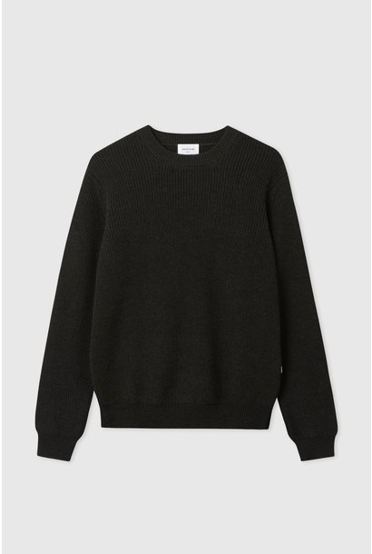 Ludwig Wool Jumper Dark Army Green