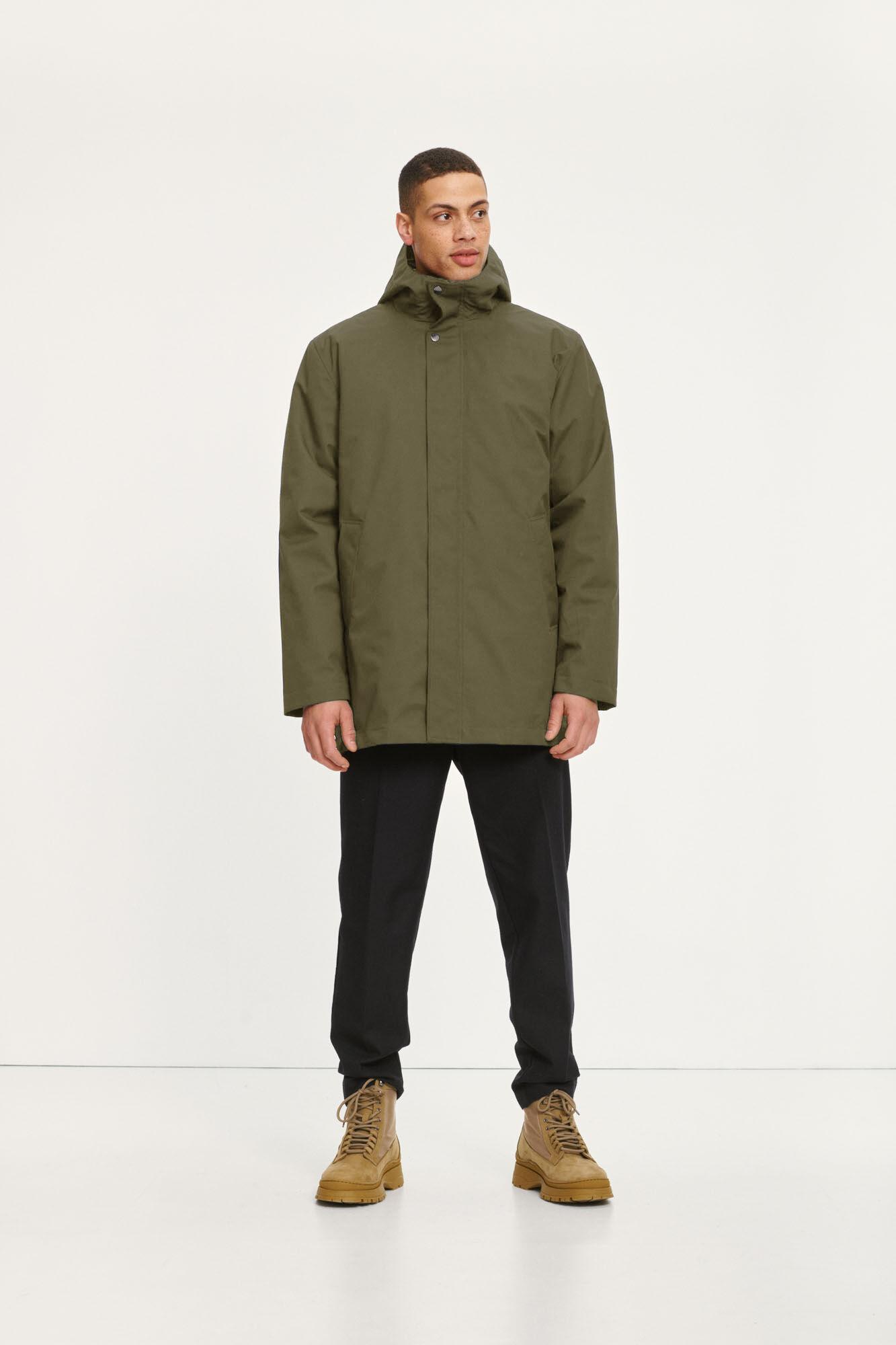 Misam 3 Layer Winter Jacket Green 11234-1