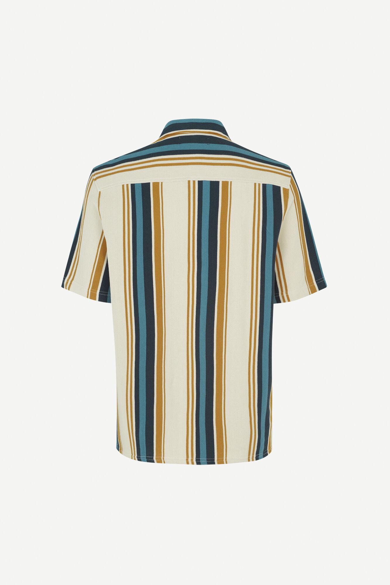 Kvistbro gestreept overhemd ecru 11565-2