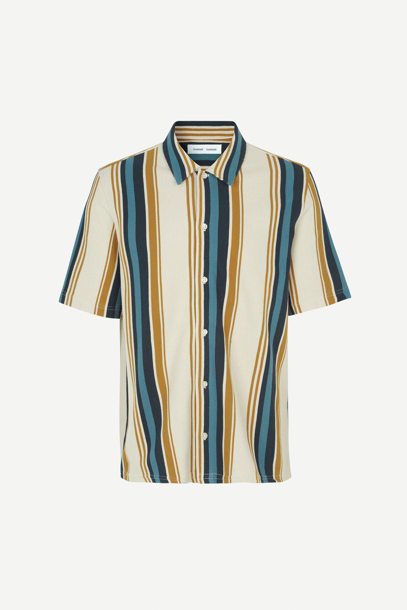 Kvistbro Stripe Shirt Overcast 11565-1