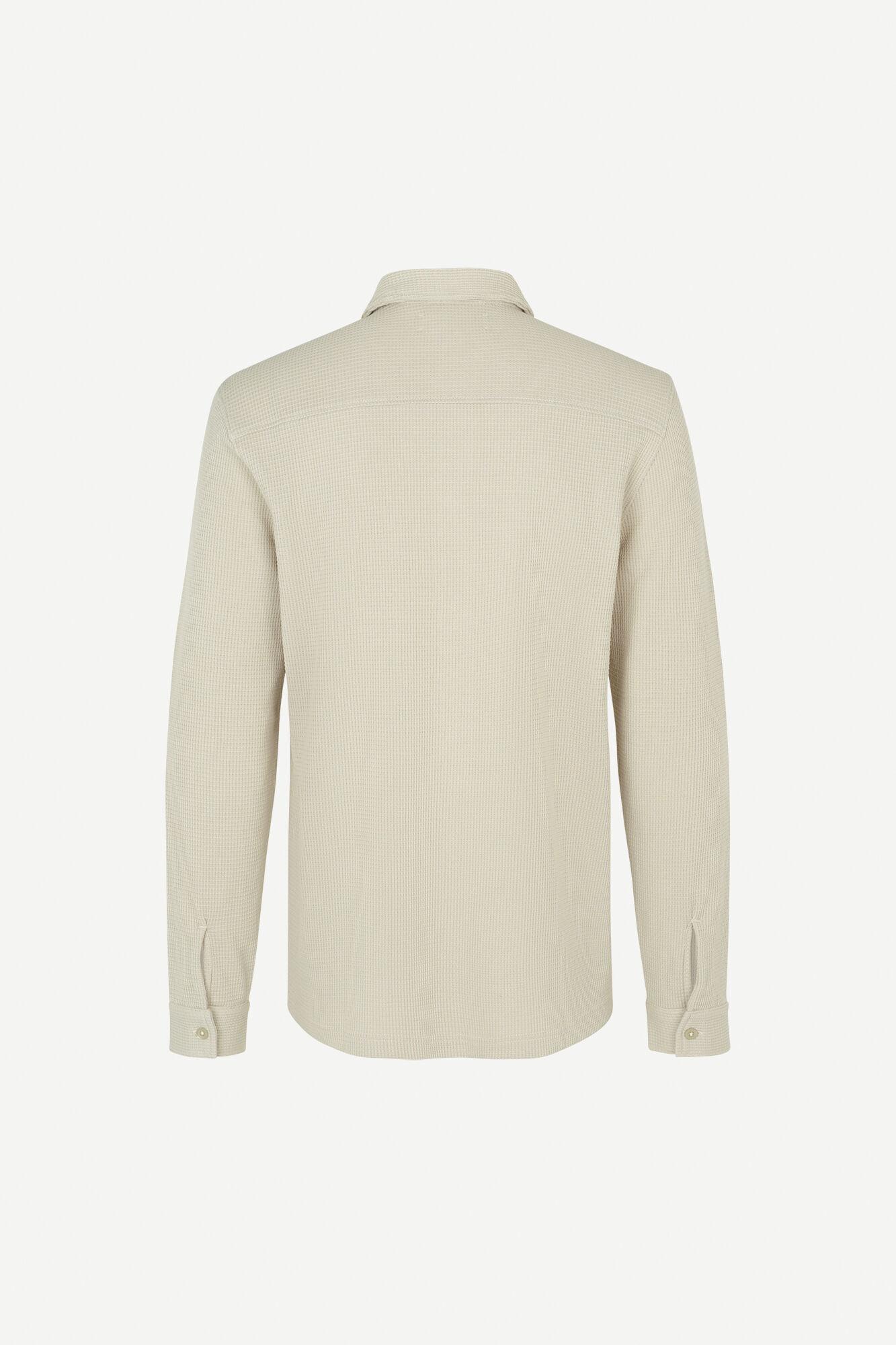 Dayo geweven overhemd in ecru 11586-2