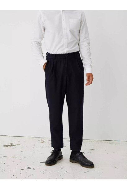 Smoke Relaxed Trouser Dark Navy Twill