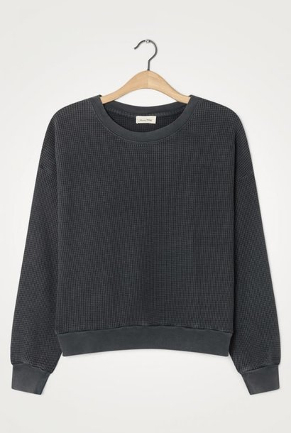 Bowilove Relaxed Fit Sweatshirt Vintage Black