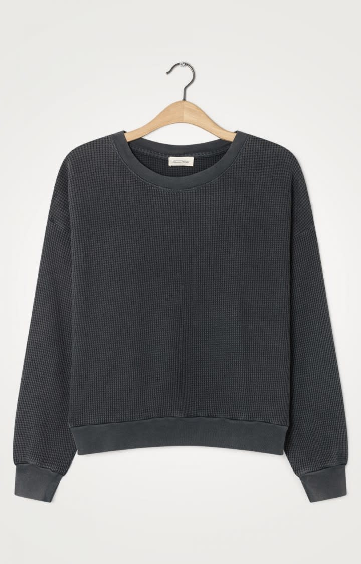 Bowilove Relaxed Fit Sweatshirt Vintage Black-1