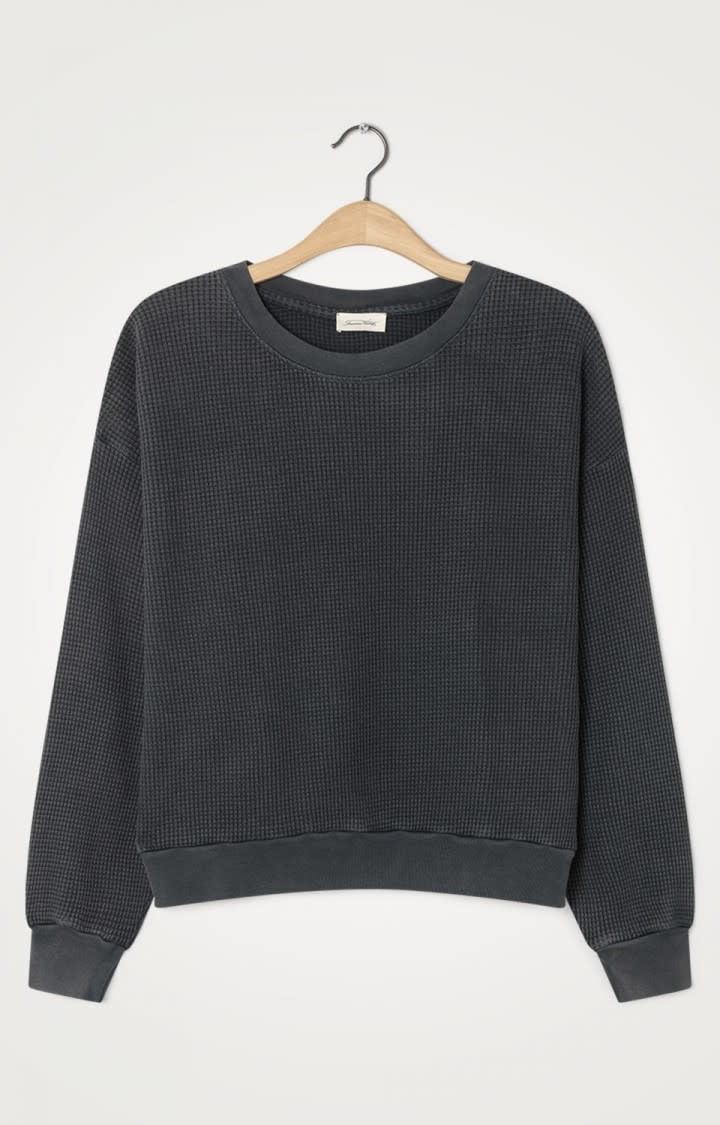 Bowilove Relaxed Fit Sweatshirt Vintage Zwart-1