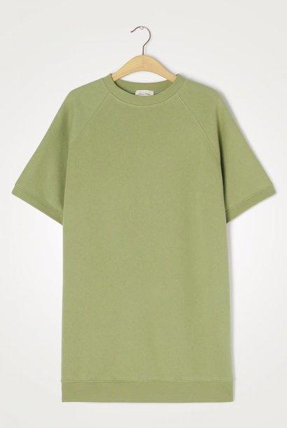 Ikatown Zacht Jersey Sweatshirt Jurk Groen