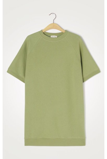Ikatown Soft Jersey Sweatshirt Dress Green