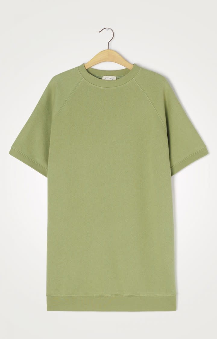 Ikatown Soft Jersey Sweatshirt Dress Green-1