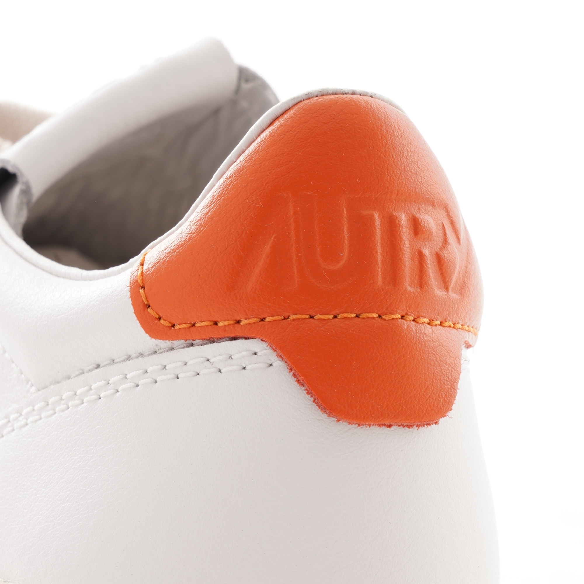 Medalist 01 Low White Orange Leather Suede-2