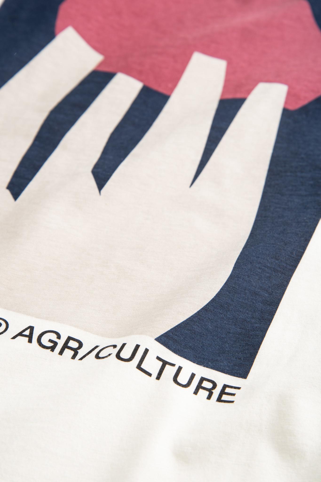 Sami Shroom Biologisch T-shirt Gebroken Wit-3