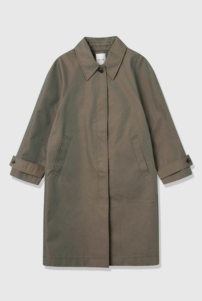 Jo L3 Mac Coat Olive Green Iridescent