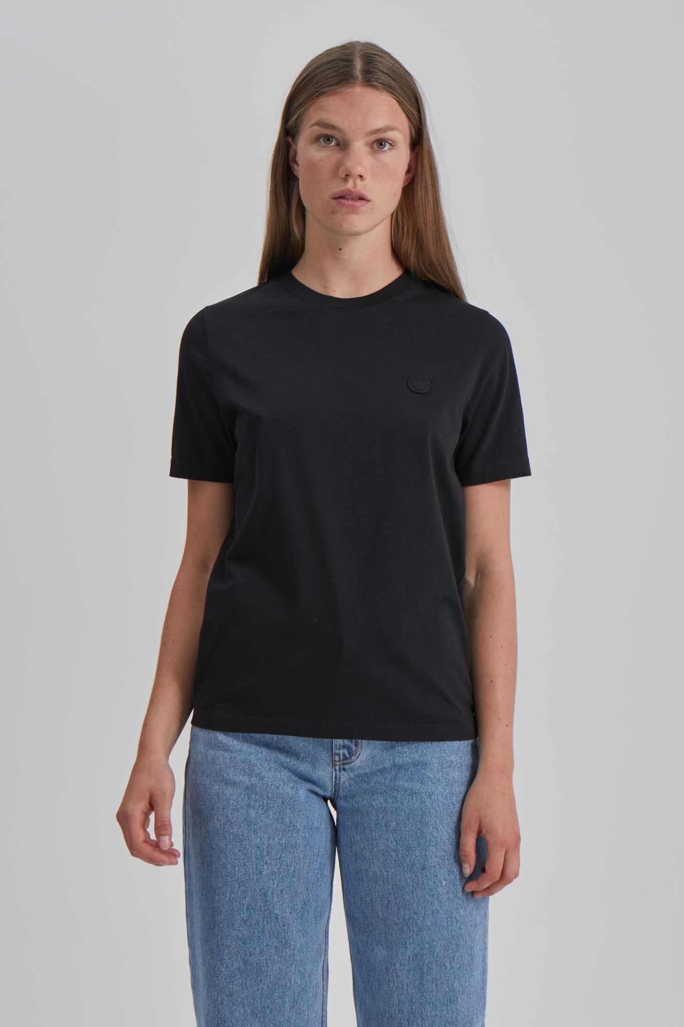 Mia biologisch katoenen zwart T-shirt-2