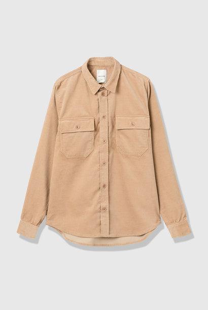 Andrew 12w Zwaar Corduroy Shirt in Zand