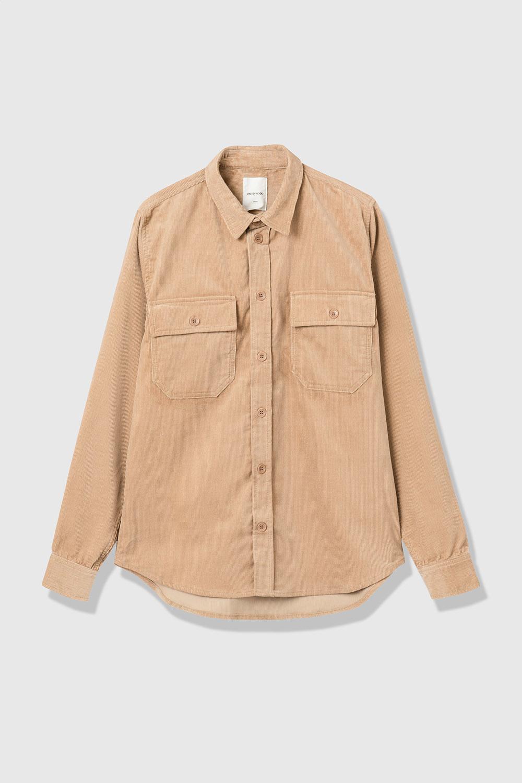 Andrew 12w Sand Heavy Corduroy Shirt-1
