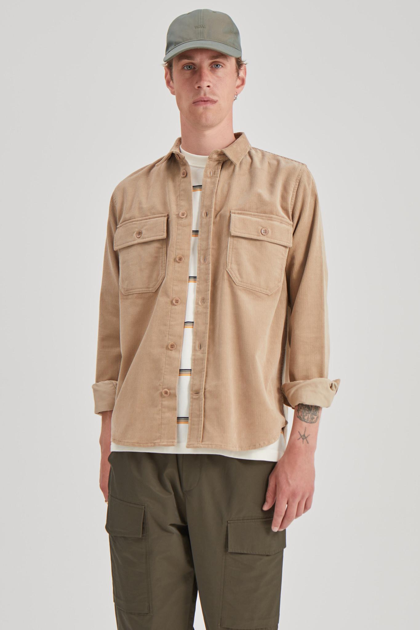 Andrew 12w Sand Heavy Corduroy Shirt-2