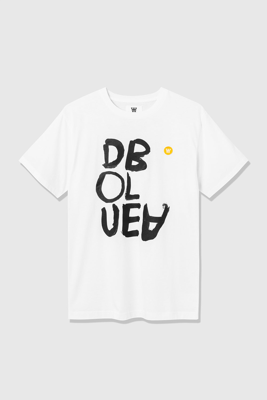 Ace White Printed Organic T-Shirt-1