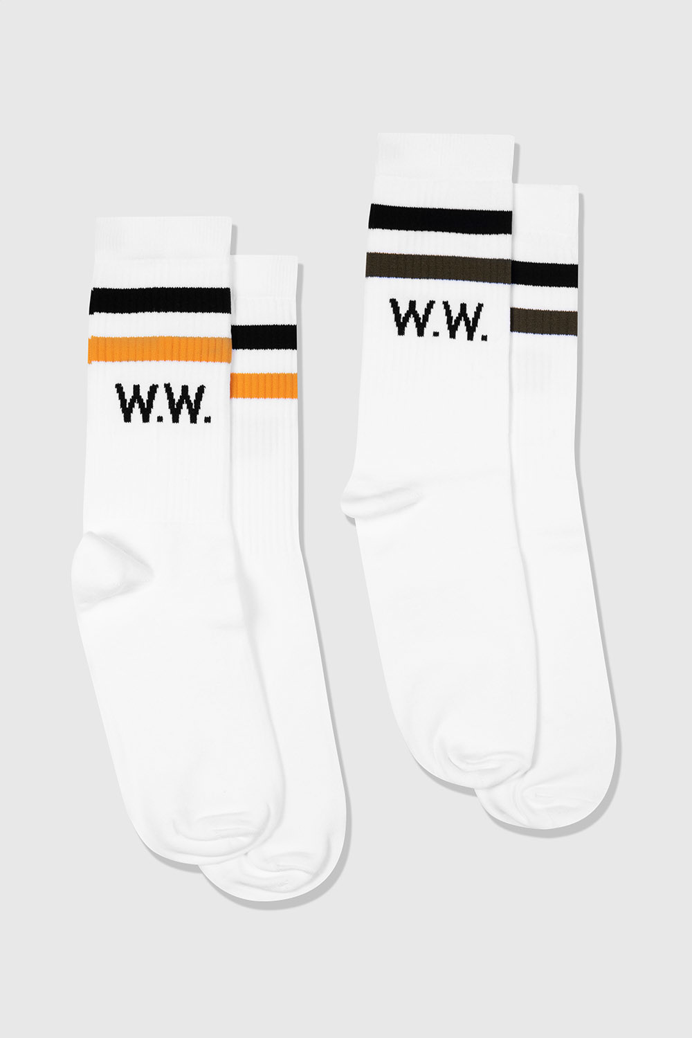 Gail 2-Pack Socks White Stripe-2
