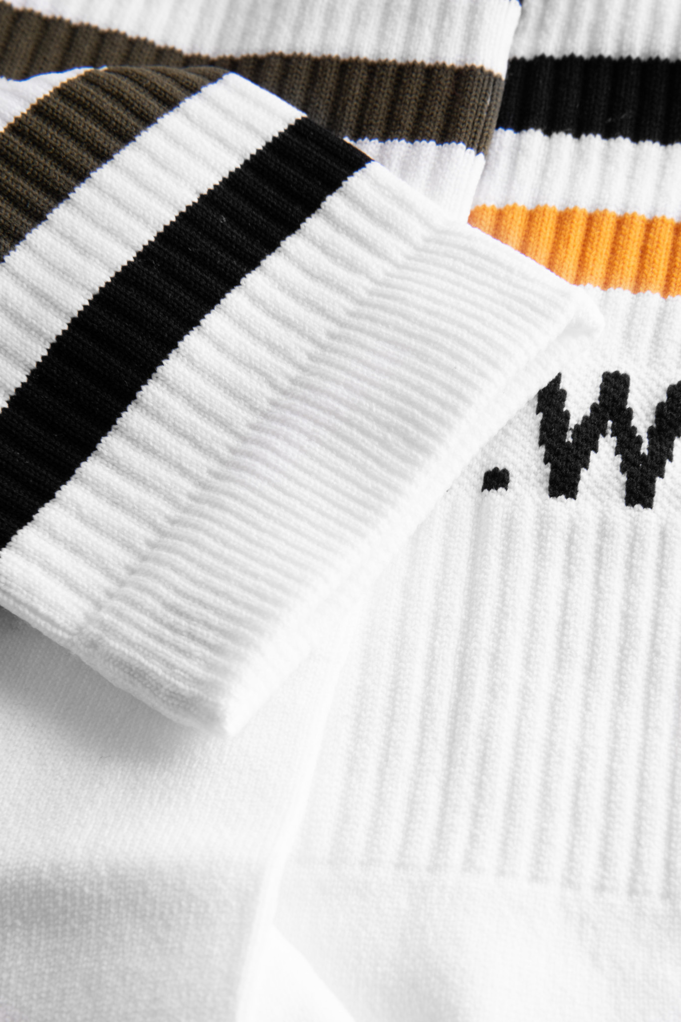 Gail 2-Pack Socks White Stripe-3