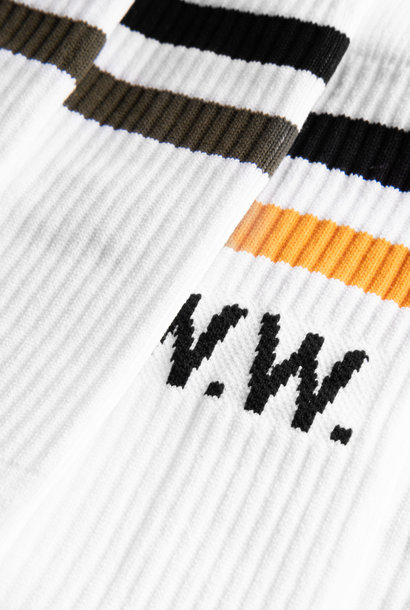 Gail 2-Pack Socks White Stripe