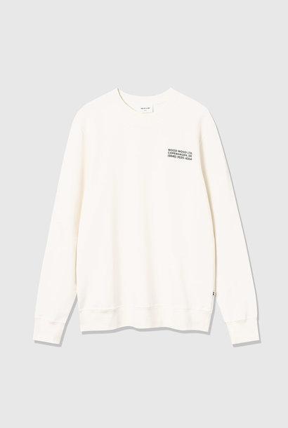 Hugh Sweatshirt gebroken wit