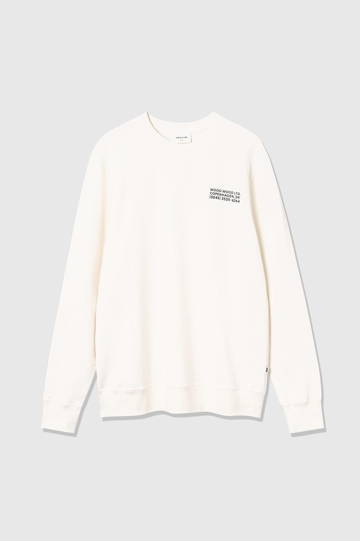 Hugh Sweatshirt Off White Print-1
